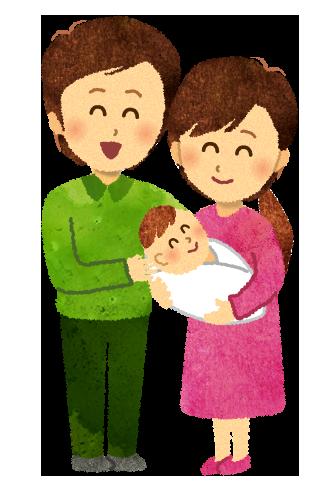 【無料素材】赤ちゃんが生まれましたのイラスト