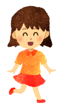 【無料素材】ルンルンな女の子のイラスト