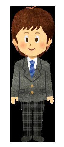【無料素材】ブレザーを着ている男子学生のイラスト