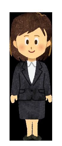 【無料素材】スーツを着ているOL女性のイラスト