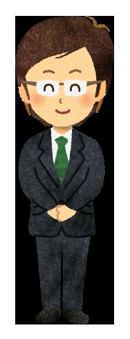 【無料素材】笑顔の営業マンのイラスト