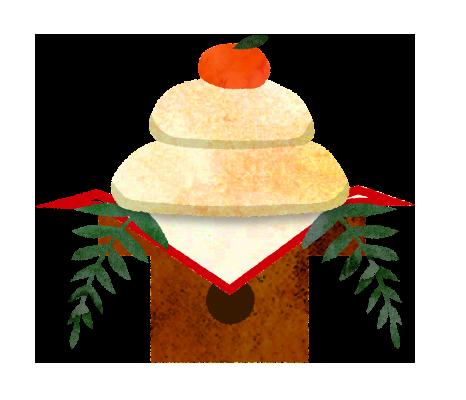 【無料】お正月・年賀状素材。鏡餅のイラスト