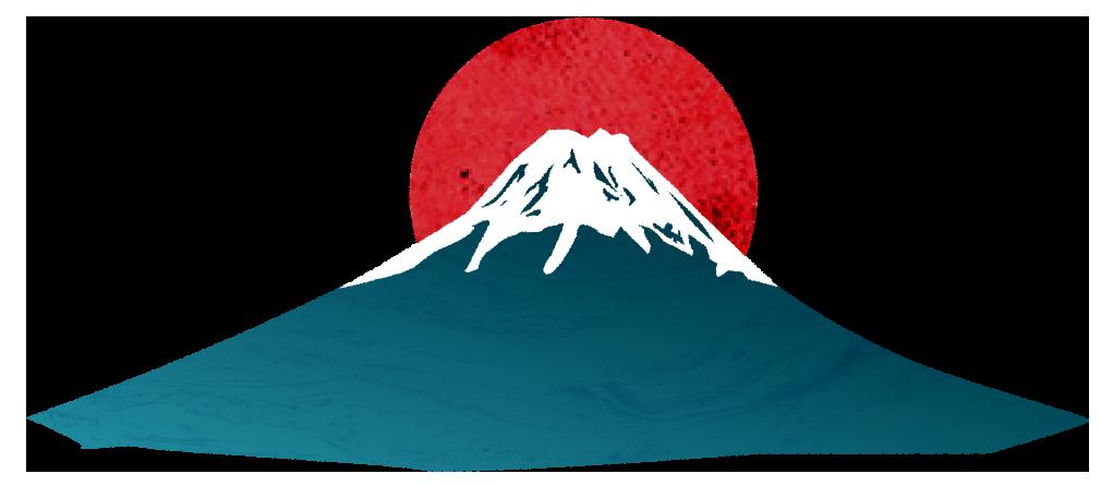 【無料素材】富士山と日の丸のイラスト