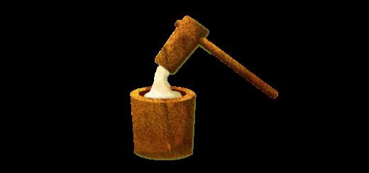 餅と臼と杵のイラスト