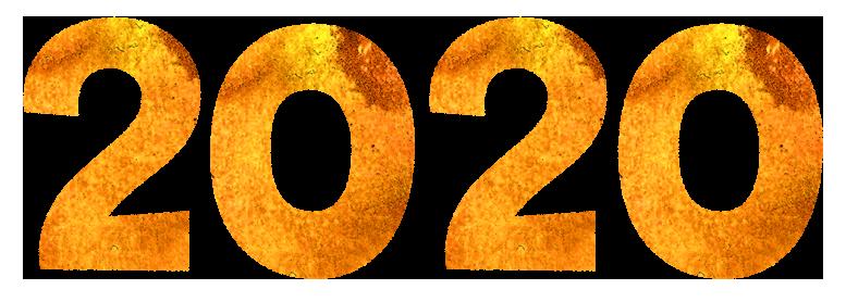 【年賀状無料素材】2020年の文字イラスト