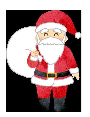 【無料素材】サンタクロースのイラスト