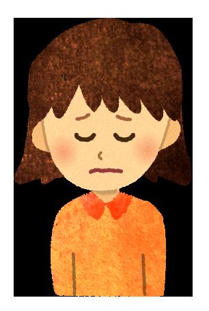 【無料素材】元気の無い女の子のイラスト