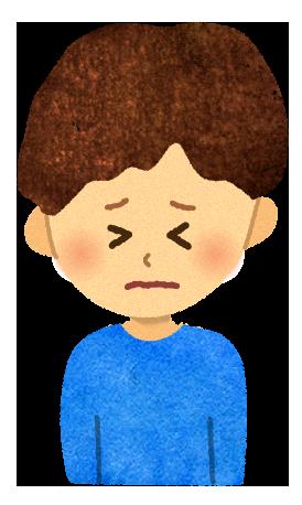【無料素材】苦しい男の子のイラスト