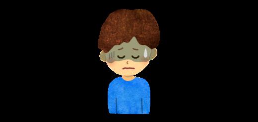 具合の悪い男の子のイラスト