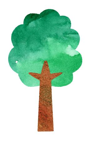 【無料素材】一本の木のイラスト