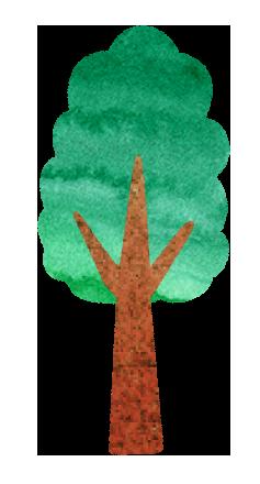 【無料素材】落葉樹のイラスト