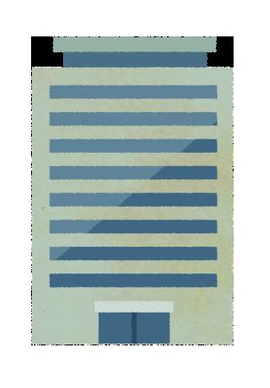 【無料素材】オフィスビルのイラスト