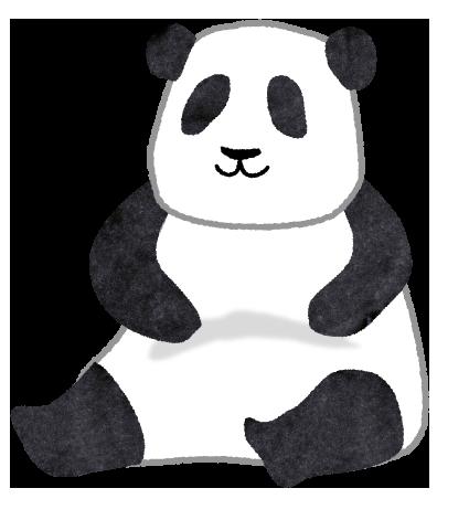 【無料素材】無防備なパンダのイラスト