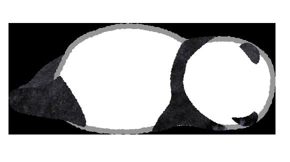 【無料素材】寝ているパンダのイラスト