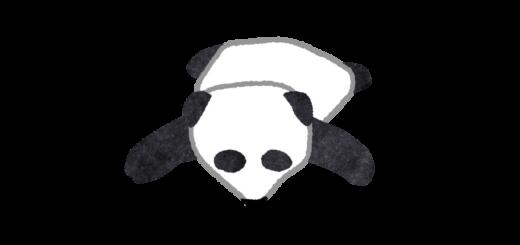 落っこちるパンダのイラスト
