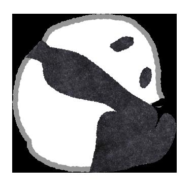 【無料素材】まあるく座るパンダの赤ちゃんのイラスト