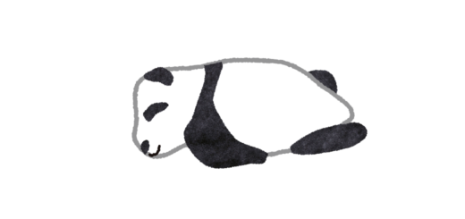 ふにふに寝ているパンダの赤ちゃんのイラスト