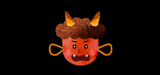 赤鬼のお面のイラスト