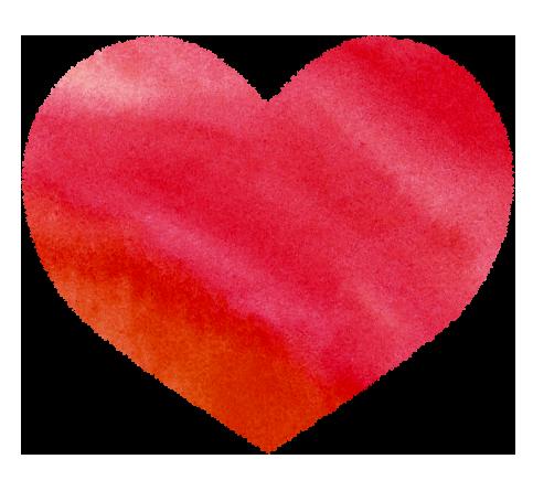 【無料素材】赤いハートのイラスト