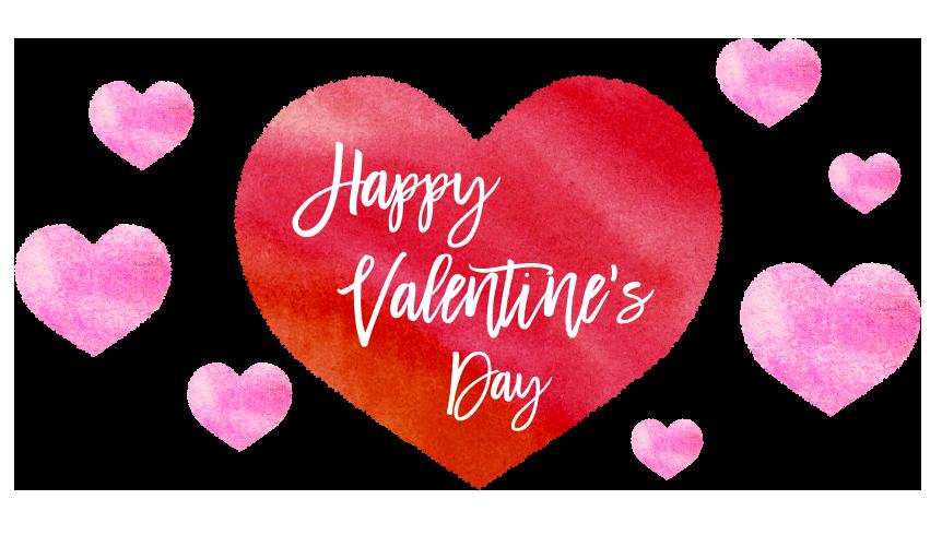 無料素材】沢山のバレンタインデーのハートのイラスト