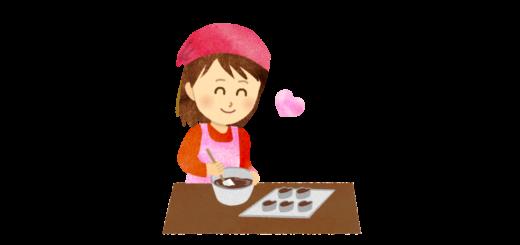 スイーツ作りをしている女の子のイラスト