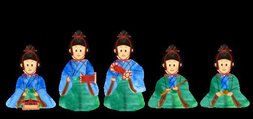 五人囃子のイラスト