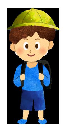【無料素材】ランドセルを背負う小学生の男の子のイラスト