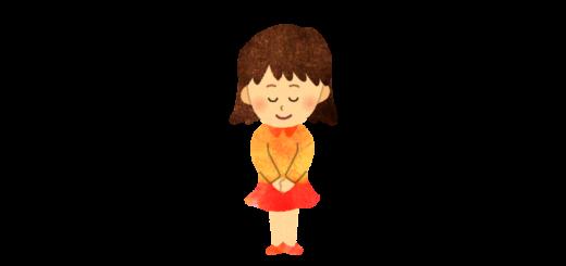 あいさつをする女の子のイラスト