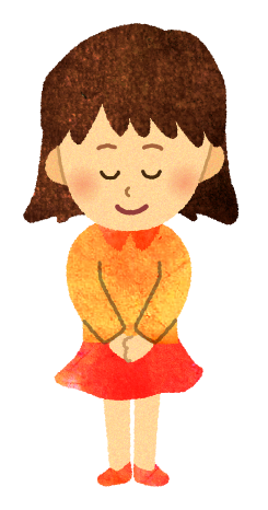 【フリー素材】あいさつをする女の子のイラスト