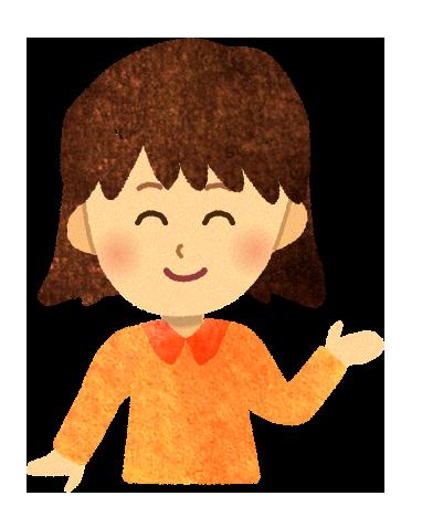【フリー素材】案内する女の子のイラスト