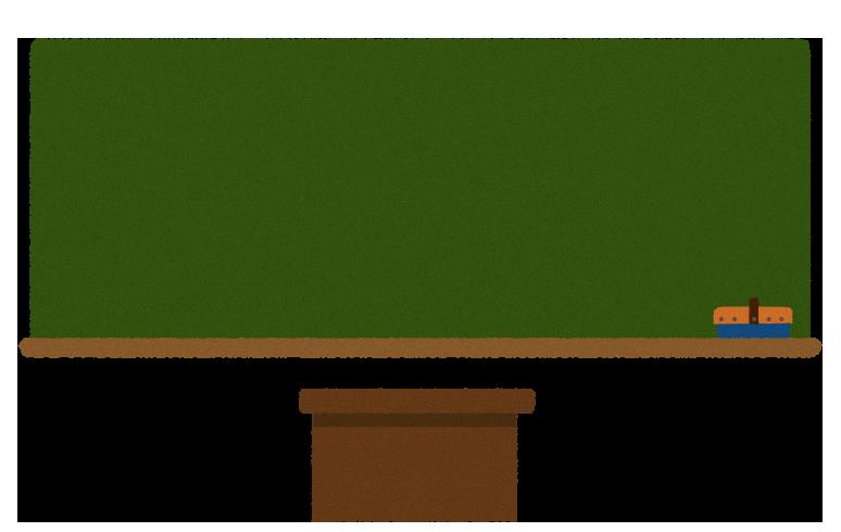 【無料素材】黒板と教壇のイラスト