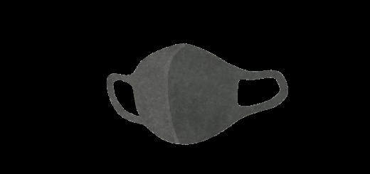 グレーのウレタンマスクのイラスト