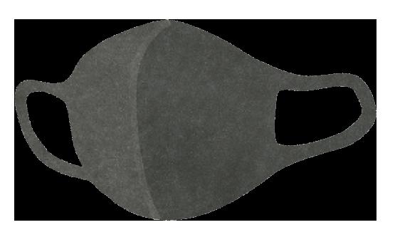 【無料素材】グレーのウレタンマスクのイラスト
