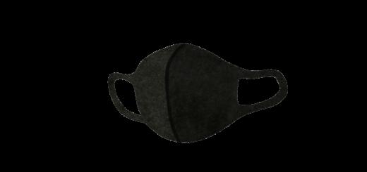 ブラックのウレタンマスクのイラスト