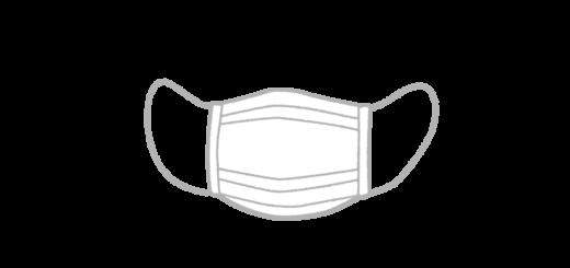 使い捨てマスクのイラスト