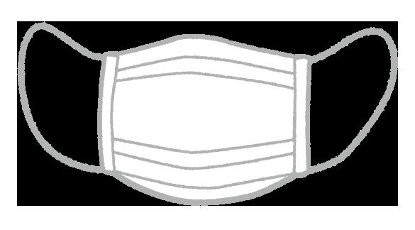 【無料素材】不織布マスクのイラスト