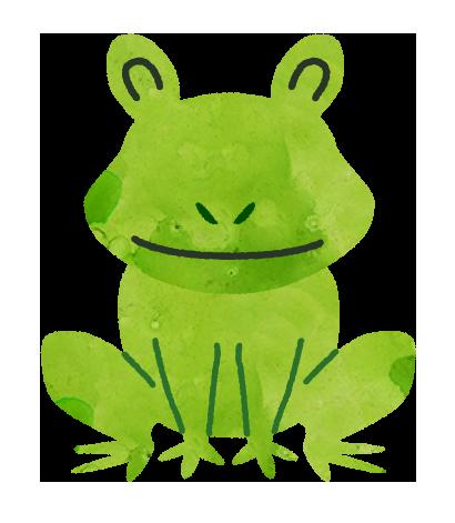 【無料素材】カエルのイラスト