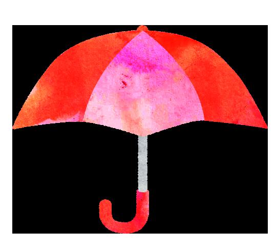 【無料素材】赤いかさのイラスト