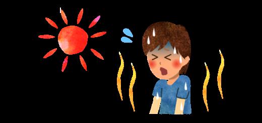 暑くて苦しい男性のイラスト