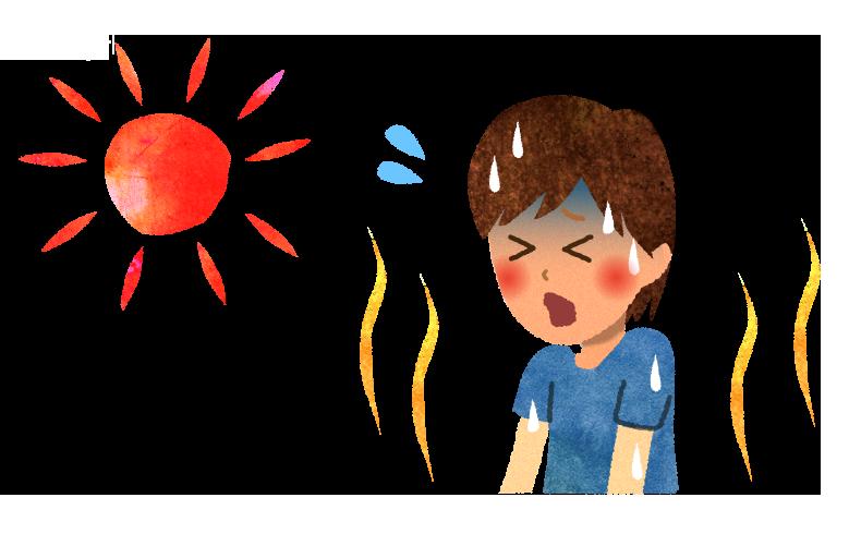 【無料素材】猛暑日のイラスト