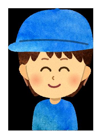 【無料素材】帽子を被った男の子のイラスト
