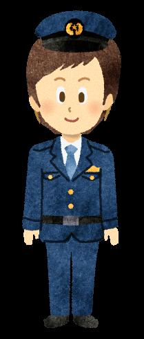 【無料素材】警察官のイラスト
