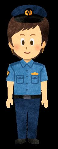 【無料素材】半袖制服警察官のイラスト