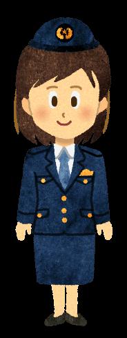 【無料素材】女性警察官のイラスト