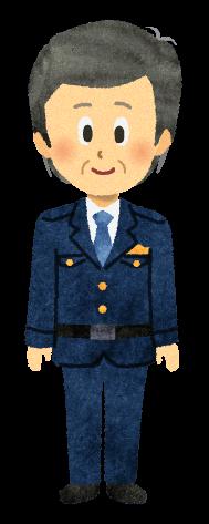 【無料素材】巡査部長のイラスト