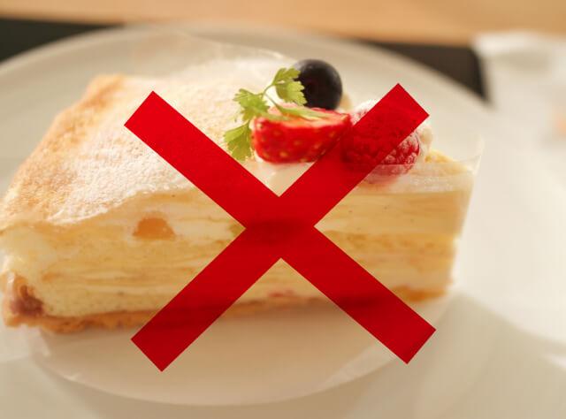 ケーキや甘い物を控えるだけでOK
