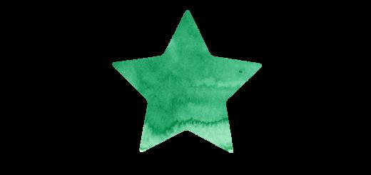 緑の星のマーク