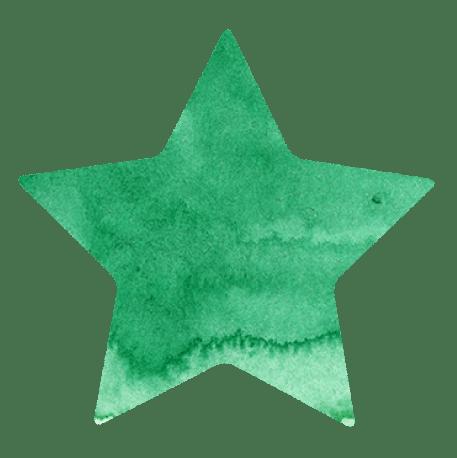 【無料素材】緑色の星のマーク