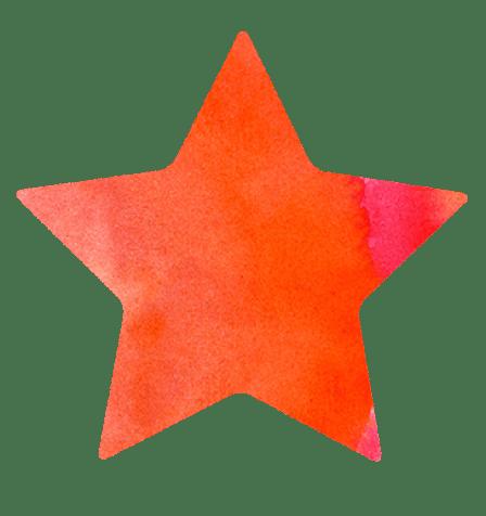 【無料素材】オレンジの星のイラスト