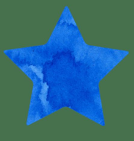 【無料イラスト】青い星